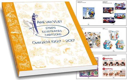 striptekenaar Arie van Vliet jubileumboek
