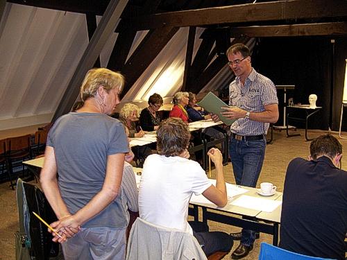 striptekenaar Arie van Vliet, workshop striptekenen