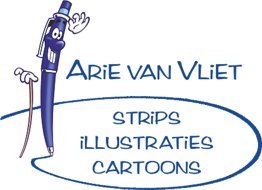 striptekenaar Arie van Vliet Strips Illustraties Cartoons logo