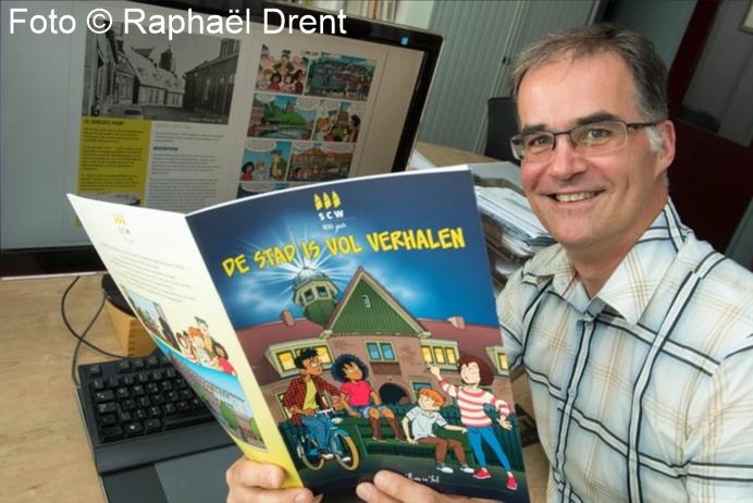 nieuws, striptekenaar Arie van Vliet, strip 100 jaar SCW