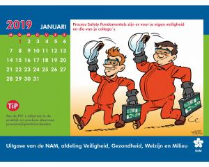 Nederlandse Aardolie Maatschappij NAM kalender