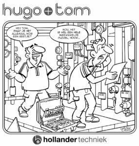 kleurplaat Hugo & Tom