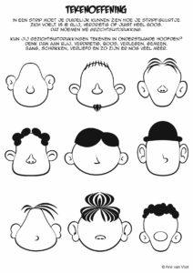 tekenen gezichtsuitdrukkingen